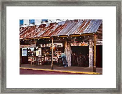Sun On The Beach Bar Framed Print by Greg Jackson