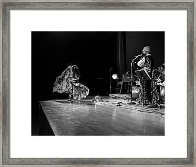 Sun Ra Dancer And Marshall Allen Framed Print by Lee  Santa