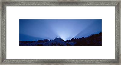 Sun Rays, Canton Glarus, Switzerland Framed Print by Panoramic Images