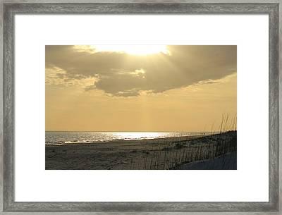 Sun Rays Framed Print by Cynthia Guinn