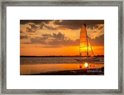Sun Sail Framed Print by Marvin Spates