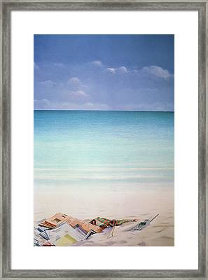 Sun, Sand And Money I Framed Print by Lincoln Seligman