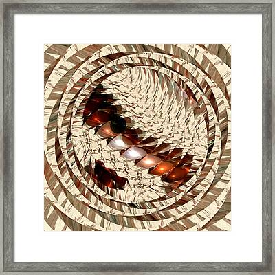 Sun Sand Shadows Framed Print by Anastasiya Malakhova