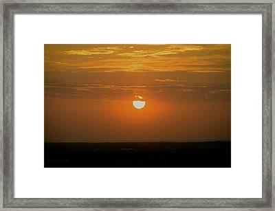 Sun Set Over Sa Framed Print by Shawn Marlow