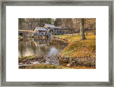 Sun Setting On Mabry Mill Framed Print by Gregory Ballos