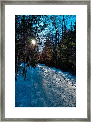 Sun Setting On The Lock And Dam Trail Framed Print by David Patterson