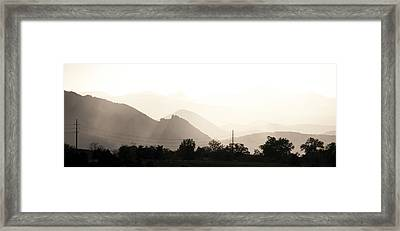 Sun Soaked Flatirons Framed Print by Marilyn Hunt