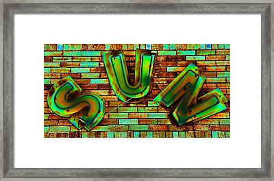 Sun Studio Neon 2 Framed Print by Stephen Stookey