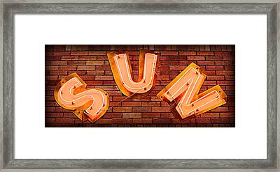 Sun Studio Neon Framed Print by Stephen Stookey