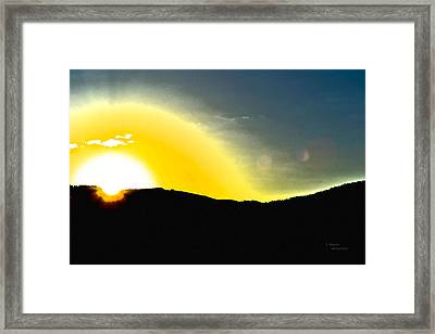 Sun Framed Print by Teresa Dixon