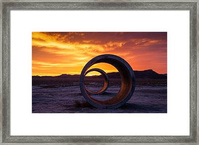 Sun Tunnels Framed Print by Peter Irwindale