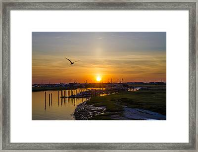 Sun Up At Two Mile Landing - Wildwood Crest Framed Print by Bill Cannon