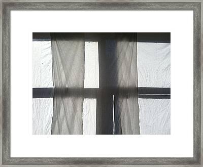 Sun Up Through Luke's Curtains Framed Print by Anna Villarreal Garbis