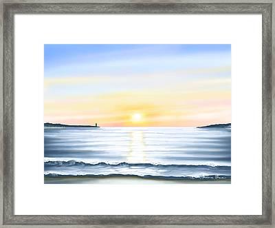 Sun Framed Print by Veronica Minozzi