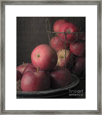 Sun Warmed Apples Still Life Standard Sizes Framed Print by Edward Fielding
