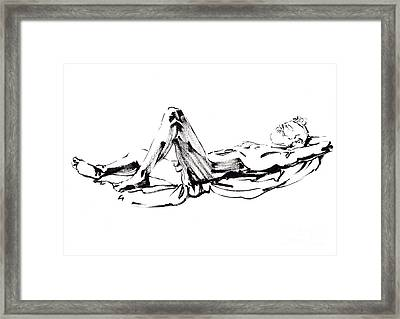 Sunbath Framed Print by Konstantin Boreo