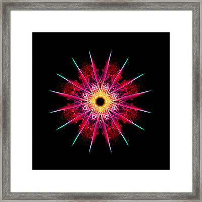 Sunburst Framed Print by Steve Purnell