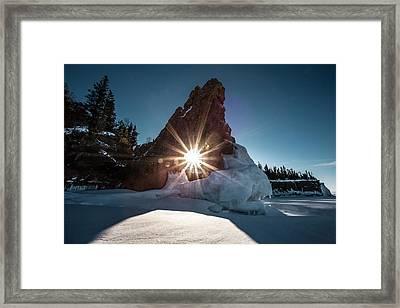 Sunburst Through The Sea Lion Framed Print by Jakub Sisak