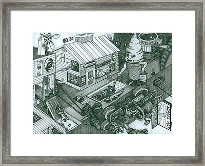 A Sundae In The Park With George Framed Print by Richie Montgomery