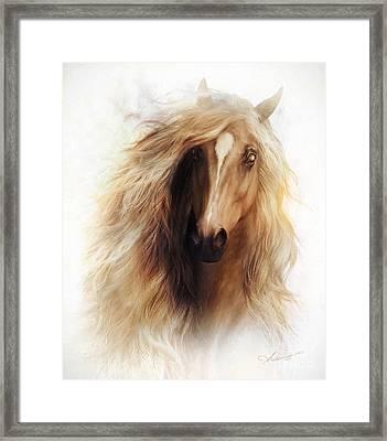 Sundance Horse Portrait Framed Print by Shanina Conway