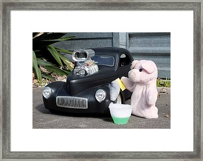 Sunday Afternoon Carwash Framed Print by Piggy