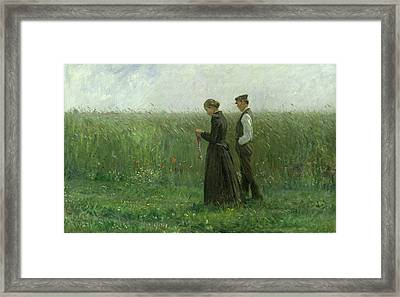 Sunday Afternoon Framed Print by Leopold Karl Walter von Kalckreuth