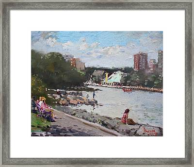 Sunday At Port Credit Park Mississauga Framed Print by Ylli Haruni