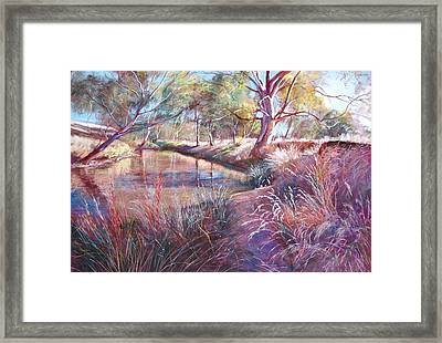 Sunday Creek At Dochery's Road Framed Print by Lynda Robinson