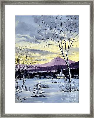Sunday In Winter Framed Print by Lee Piper