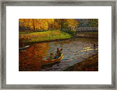 Sunday On Avon Framed Print by Terry Perham