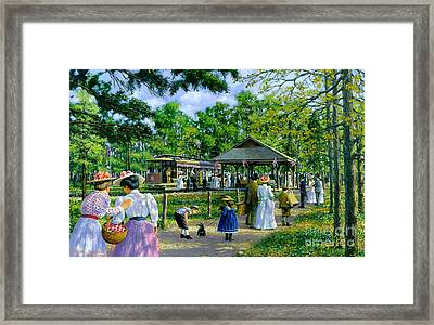 Sunday Picnic Framed Print by Michael Swanson