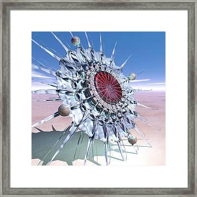 Sundial-flower Framed Print by Diuno Ashlee