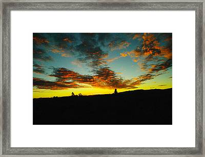 Sundown In Yellowstone Framed Print by Jeff Swan