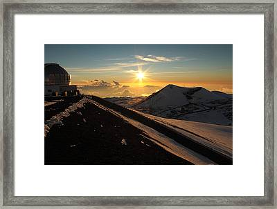 Sundown On Mauna Kea Framed Print by Scott Rackers