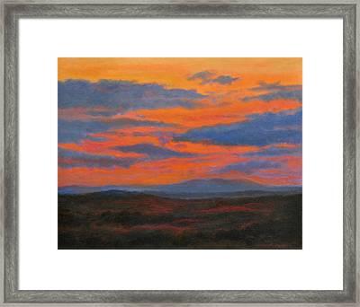 Sundown Over Croton Reservoir Framed Print by Phyllis Tarlow