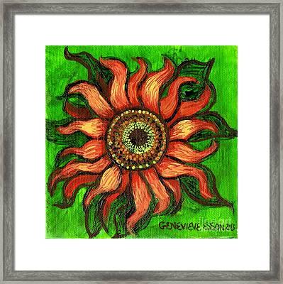 Sunflower 1 Framed Print by Genevieve Esson