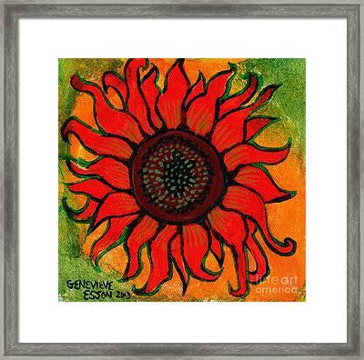 Sunflower 2 Framed Print by Genevieve Esson