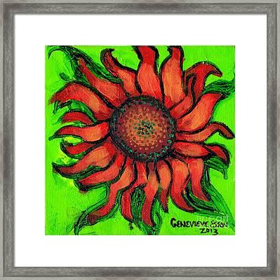 Sunflower 3 Framed Print by Genevieve Esson