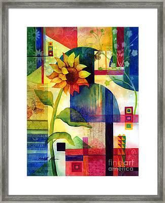 Sunflower Collage Framed Print by Hailey E Herrera