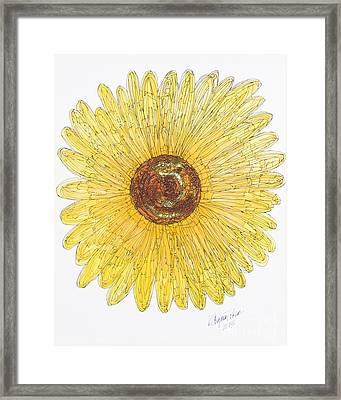 Sunflower For Mom Chapman Framed Print by Kristi Chapman