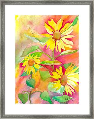 Sunflower Framed Print by Kelly Perez