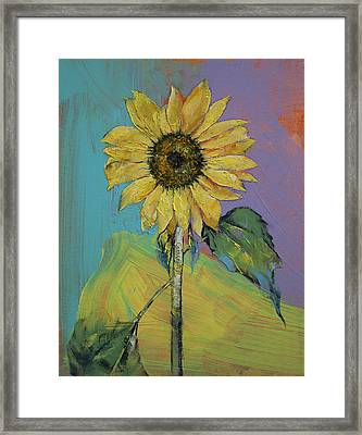 Sunflower Framed Print by Michael Creese