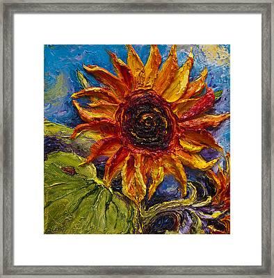 Sunflower Framed Print by Paris Wyatt Llanso