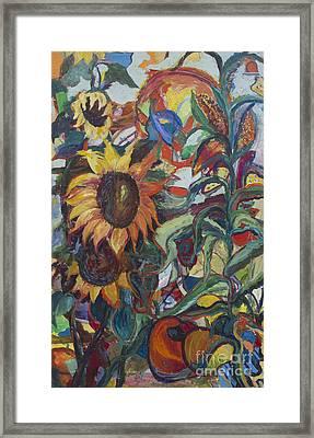 Sunflowers Framed Print by Avonelle Kelsey