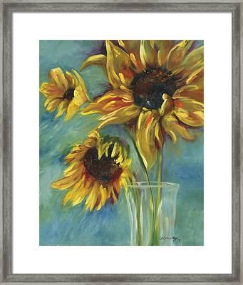 Sunflowers Framed Print by Chris Brandley