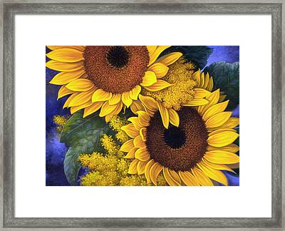 Sunflowers Framed Print by Mia Tavonatti