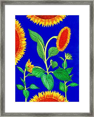 Sunflowers Framed Print by Palmer Stinson