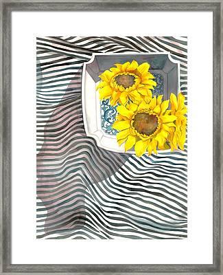Sunflowers Framed Print by Sayyidah Seema Zaidee