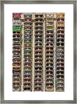 Sunglasses Framed Print by Peter Tellone