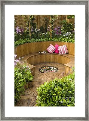 Sunken Garden Framed Print by Anne Gilbert